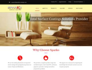 sparkocoatings.com screenshot