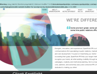 sparkpointpr.com screenshot