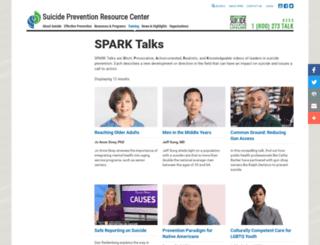 sparktalks.sprc.org screenshot