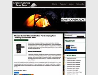 sparkycampinggearblog.com screenshot