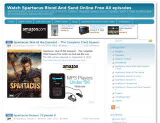 spartacusbloodandsand.com screenshot