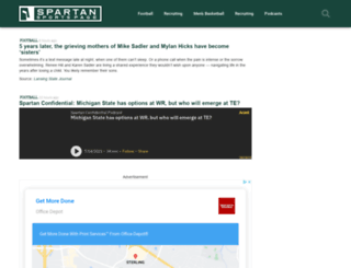 spartansportspage.com screenshot