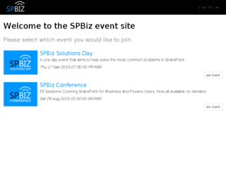 spbiz.conferencehosts.com screenshot