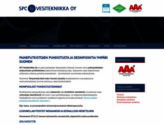 spcvesitekniikka.fi screenshot