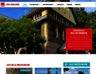spd-frechen.de screenshot