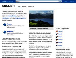 speakenglish.co.uk screenshot