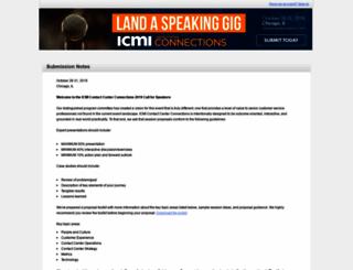 speakers.icmi.com screenshot