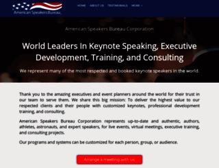 speakersbureau.com screenshot