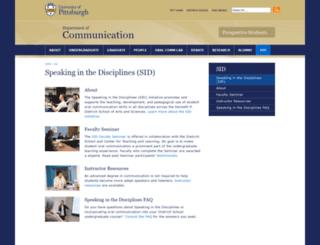 speaking.pitt.edu screenshot