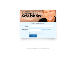speakingacademy.kajabi.com screenshot
