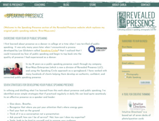 speakingpresence.com screenshot
