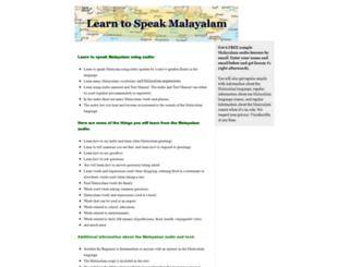 speakmalayalam.com screenshot