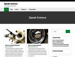 speakscience.org screenshot