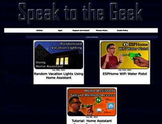 speaktothegeek.co.uk screenshot