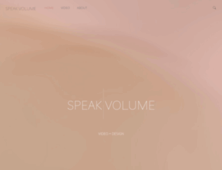 speakvolume.com screenshot