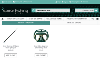 spearfishingstore.co.uk screenshot
