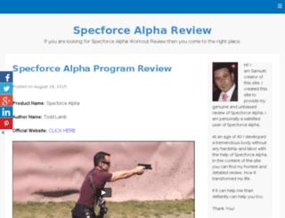 specforcealphareview.io screenshot