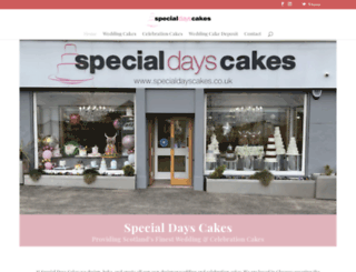 specialdayscakes.co.uk screenshot