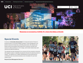 specialevents.uci.edu screenshot