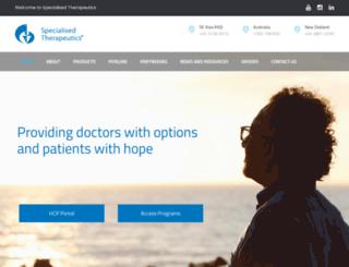 specialisedtherapeutics.com.au screenshot
