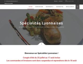 specialiteslyonnaises.fr screenshot