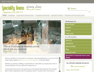 specialitylinens.co.uk screenshot