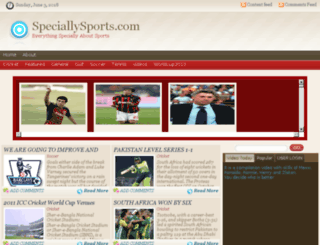 speciallysports.com screenshot