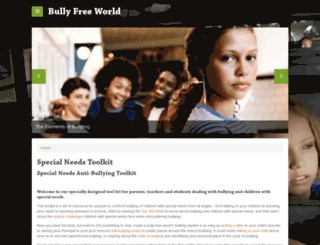 specialneeds.thebullyproject.com screenshot