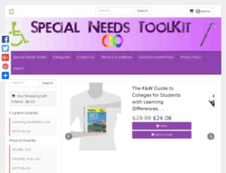 specialneedstoolkit.com screenshot