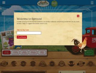 specials.sprouts.com screenshot