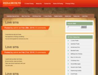 specialsmsforyou.com screenshot