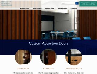 specialtydoors.com screenshot