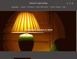 specialtylampshades.com screenshot