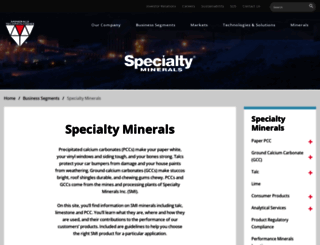 specialtyminerals.com screenshot