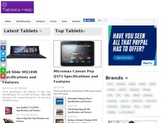 specifications.tablets-help.com screenshot