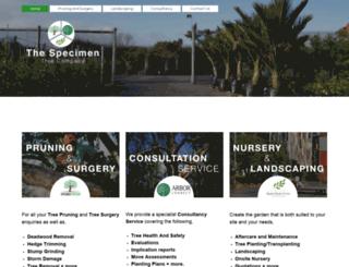 specimentree.co.nz screenshot