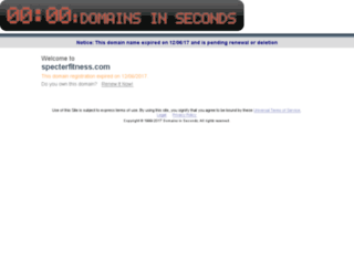 specterfitness.com screenshot