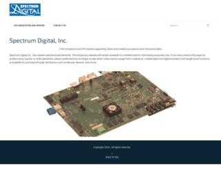 spectrumdigital.com screenshot