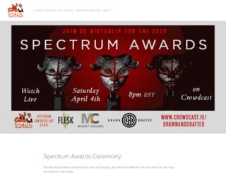 spectrumfantasticartlive.com screenshot