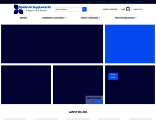 spectrumsupplements.eu screenshot