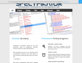 specyfikator.pl screenshot