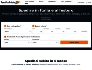 spediresubito.com screenshot