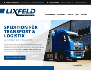 spedition-lixfeld.de screenshot