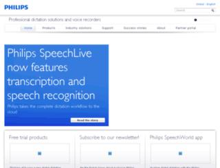 speech.philips.com screenshot