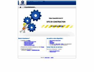 speedinfo-test.fr screenshot