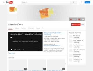 speedlinetech.co.uk screenshot