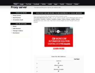 speedproxyserver.com screenshot