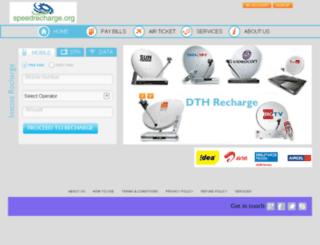 speedrecharge.org screenshot