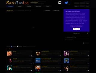 speedrunslive.com screenshot