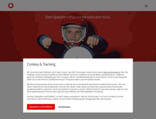 speedtest-2.unitymedia.de screenshot